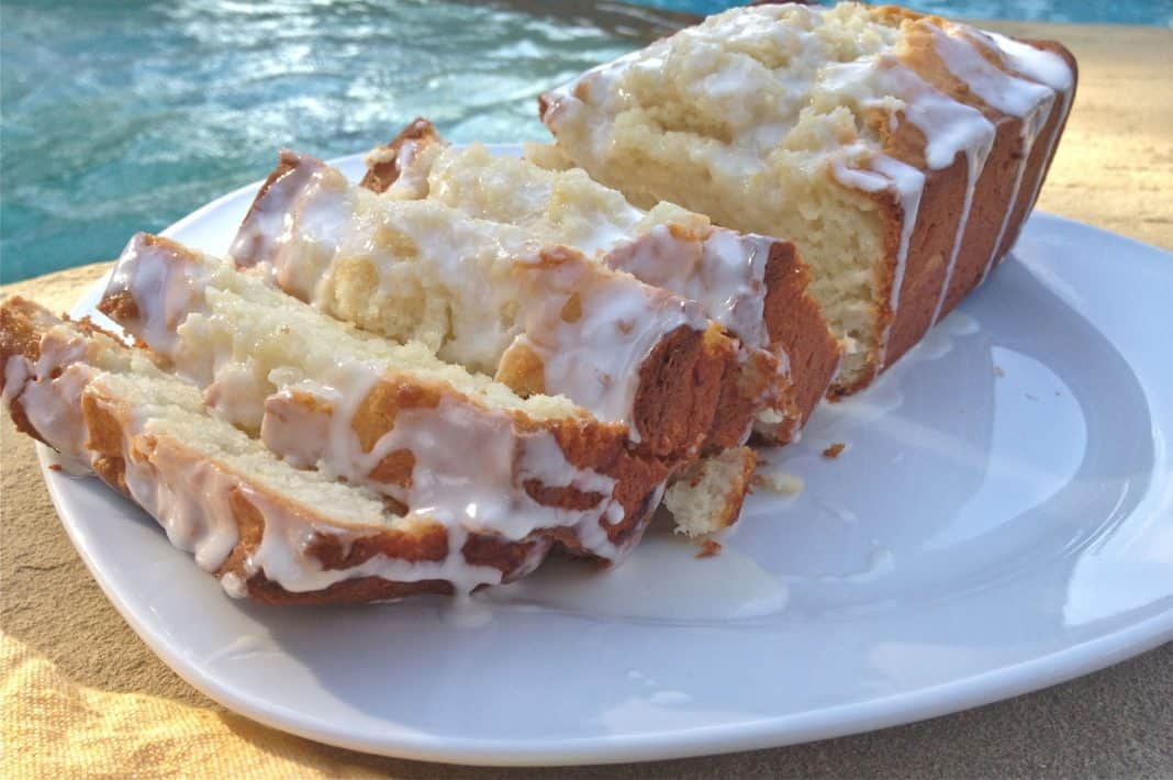 This Limoncello Cake with Limoncello Glaze is one of my favorite cakes! Made with store bought or homemade limoncello. | ZagLeft
