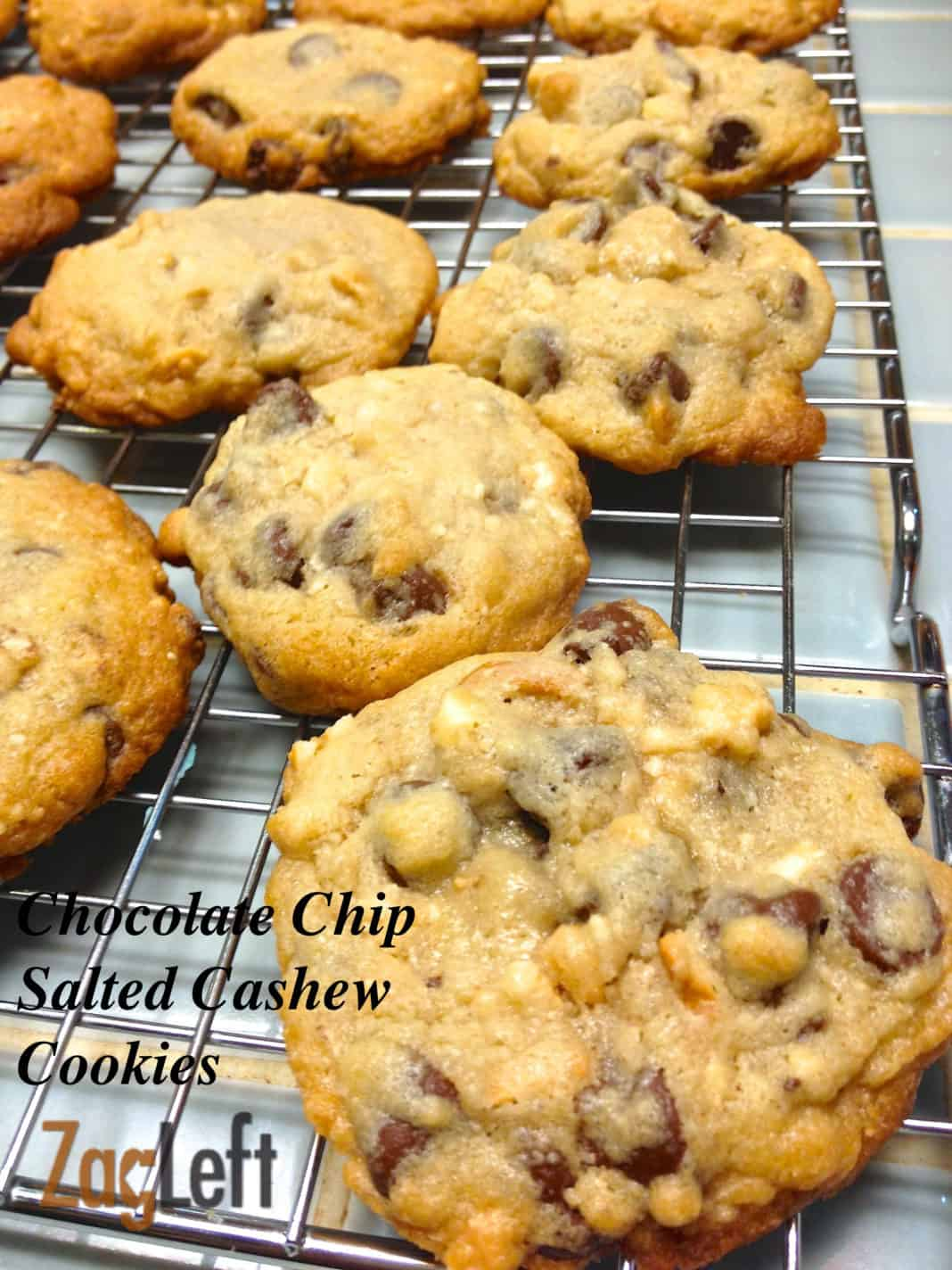 Easy to make Chocolate Chip Salted Cashew Cookies...
