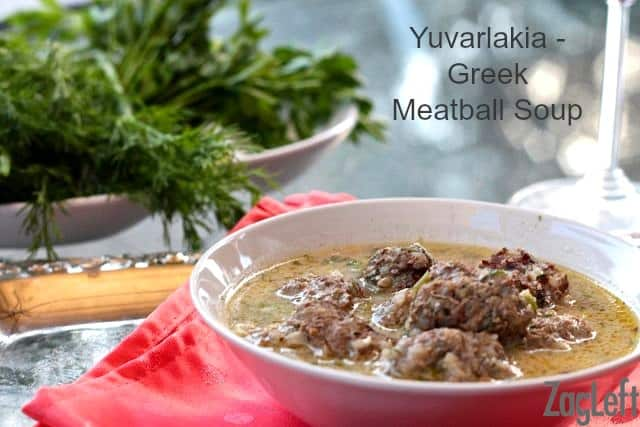Yuvarlakia - Greek Meatball Soup www.zagleft.com