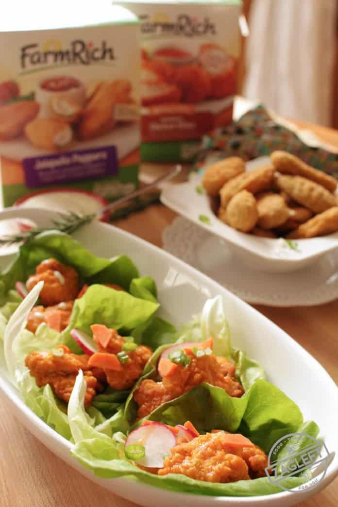 These Baked Buffalo Chicken Lettuce Wraps make the perfect meal and would be ideal to serve as a Game Day snack. Easy recipe and ready in less than 30 minutes! | zagleft.com